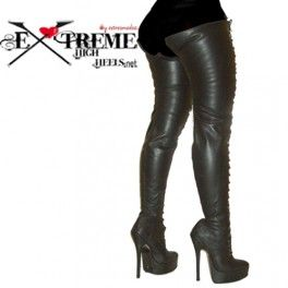Thigh high leather boots Denver-P