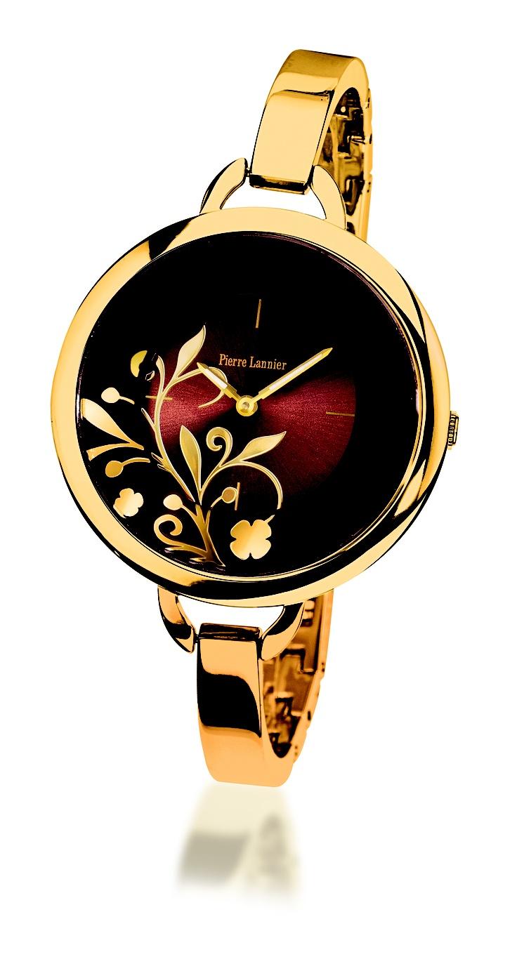 Pierre Lannier Paris dress watches for ladies – Case : Brass IPB case                         Strap: Metal IPS bracelet       Movement: Quartz                            Water resistence: 3 ATM. Available at www.chronowatchcompany.com
