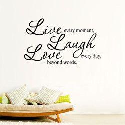 Live, Laugh, Love!  Live every moment, Laugh every day, Love beyond words. Dekorera hemmet med en snygg och motiverande väggdekor! Förutom motivet är även storleken direkt iögonfallande.  Länk till produkt: http://www.feelhome.se/produkt/live-laugh-love/  #Homedecoration #art #interior #design #Walldecor #väggdekor #interiordesign #Vardagsrum #Kontor #Modernt #vägg #inredning #inredningstips #heminredning #motivation #kärlek #skrata #citat