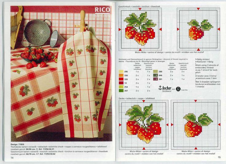 Схемы вышивки: сочные фрукты и ягоды.. Обсуждение на LiveInternet - Российский Сервис Онлайн-Дневников