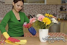 Кухонная эко-находка! Чудо-спрей для чистки кухонных поверхностей!   Делается предельно просто и быстро. Использовать тоже просто.  Не бойтесь запаха уксуса – он практически не ощущается. Вот когда я чистила раковину одним уксусом – из кухни нужно было уходить. Здесь же ощущается аромат эфирных масел и все