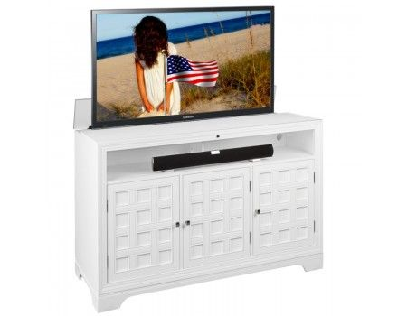 hamptons tv lift cabinet