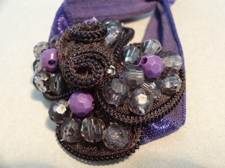 zipper bracelet with beads