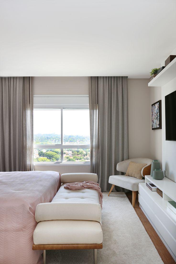 Quarto de casal por karen pisacane dormitorios for Ejemplo de dormitorio deco
