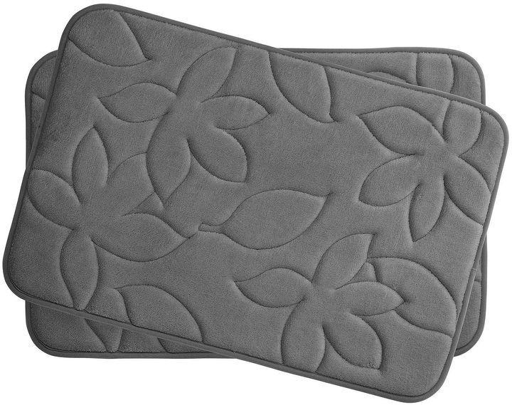 Asstd National Brand Bounce Comfort Blowing Leaves 2-pc. Memory Foam Bath Mat Set
