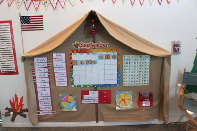 the most adorable camping theme classroom ever....maybe for summer