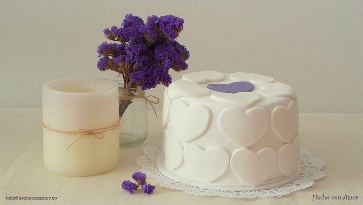 Wedding hearts cake