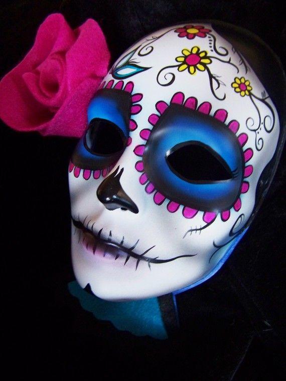 Mask Decorating Ideas Fiesta Del Día De Los Muertos  Gorras Pintadas A Mano  Pinterest