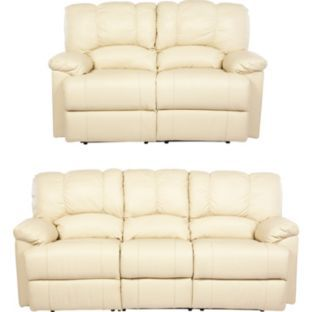 Buy New Diego Leather Recliner Large and Regular Sofa   Ivory at Argos co. 62 best Sofas images on Pinterest   Sofas  Leather fabric and
