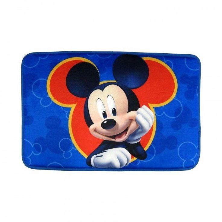 Kids Bath Mat Disney Memory Foam Kid Bathroom Shower Accessories Mickey Mouse #Disney
