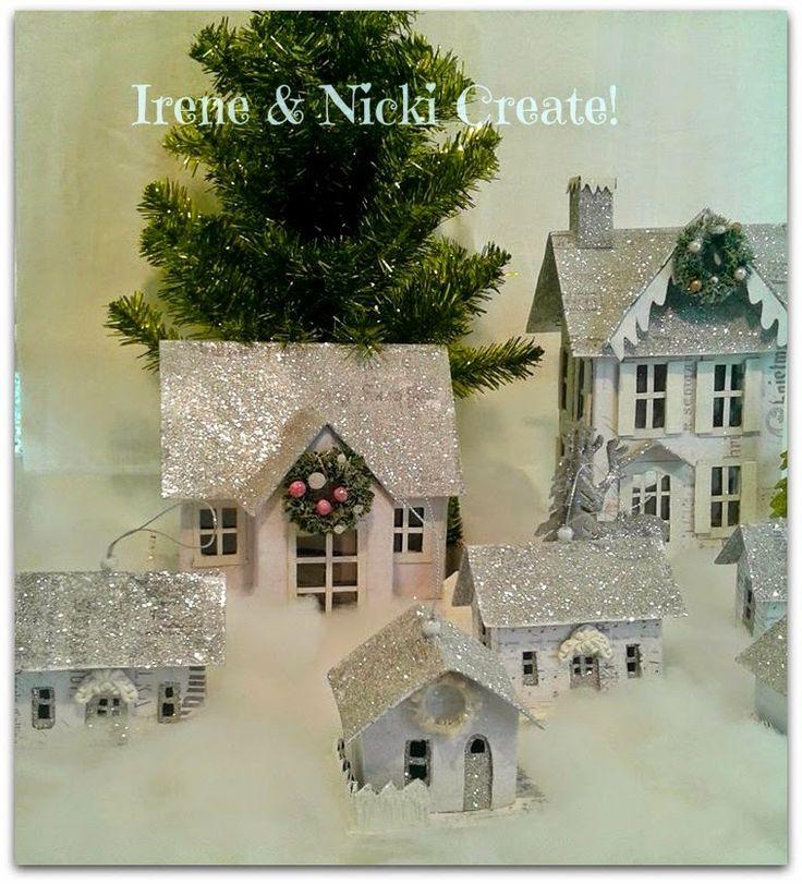 Irene & Nicki Crafts :       Christmas Glitter Houses     ...