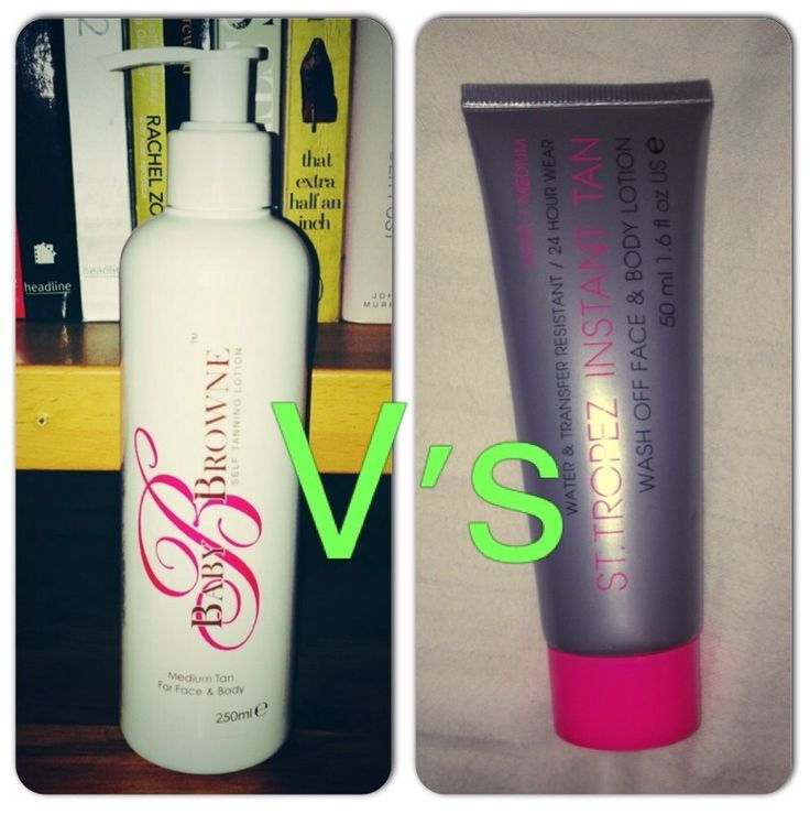 Baby B. Browne Self Tanning Lotion VS St. Tropez