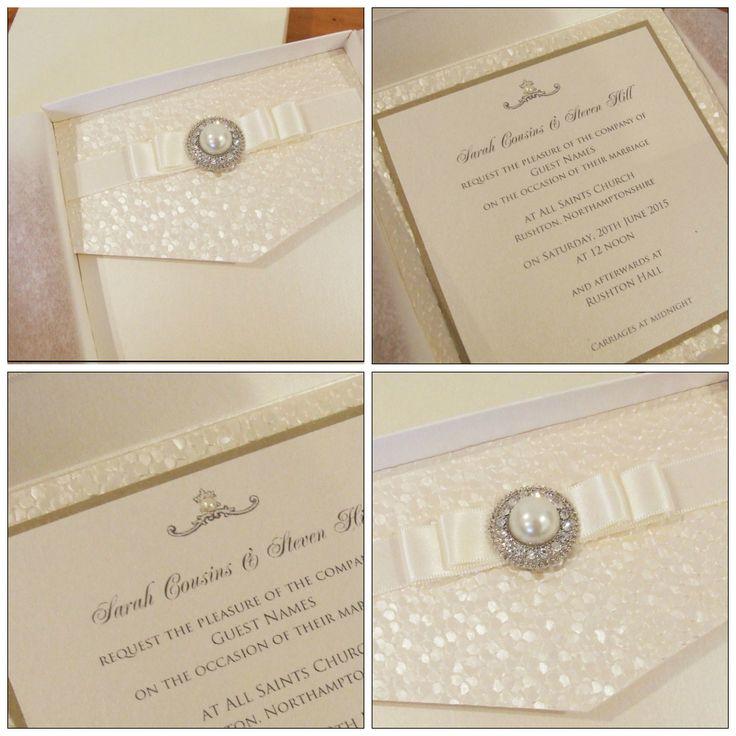 Fitzgerald pocketfold wedding invitation