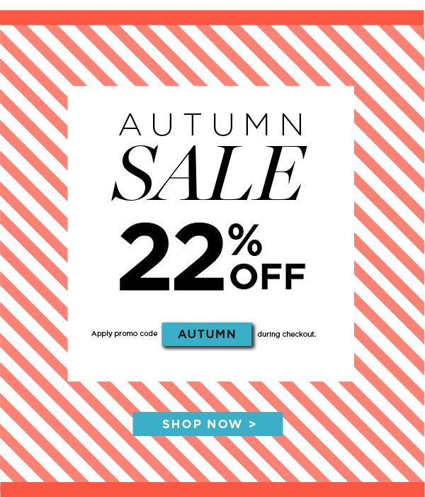 SAVE 22% Off Alpha-H, ASAP, Clarins, Napoleon Perdis and more during the Facial Co. Autumn SALE! Plus Free Standard Shipping is available on orders over $75. Sale not valid with any other offers and conditions apply. Find out more here - http://facialco.com.au/autumn-sale