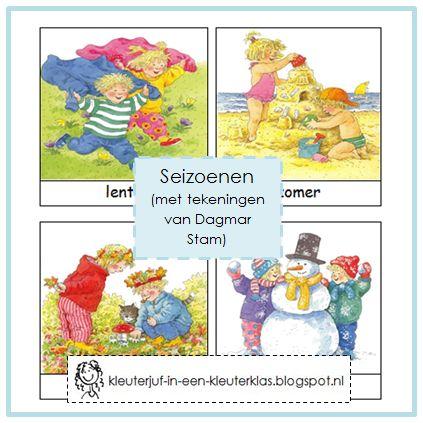 Woordkaarten SEIZOENEN (Dagmar Stam)