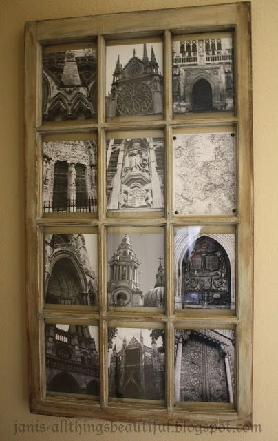 This is what I will do with my my old window and pictures of the old doors from San Antonio.