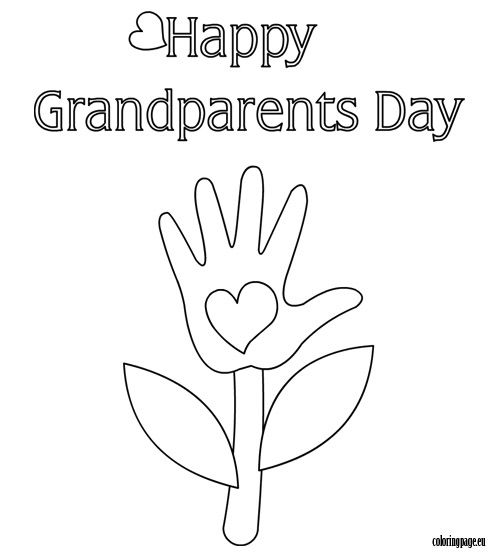 happy grandparents day image - Grandparentscom Coloring Pages