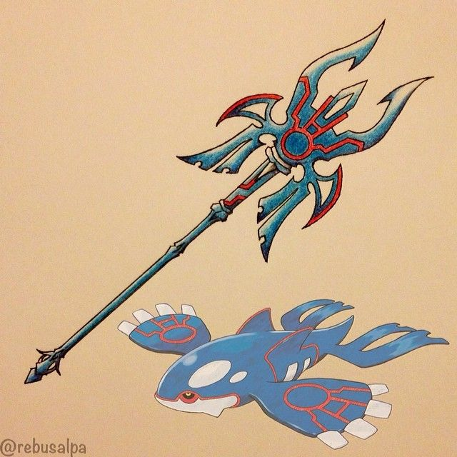 Pokeapon No. 382 - Kyogre. #pokemon #kyogre #trident #finalfantasy #mateus #crossover #pokeapon
