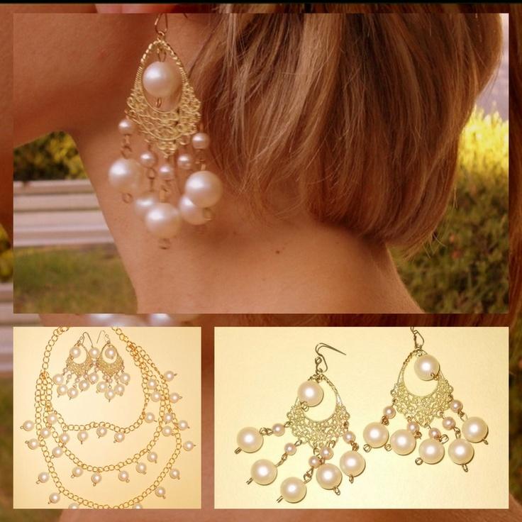 Aros con perlas fantasia