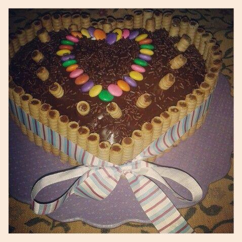 Torta de chocolate con pirulines