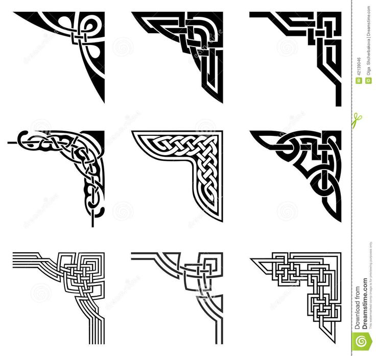 Celtic Corners Set - Download From Over 52 Million High Quality Stock Photos, Images, Vectors. Sign up for FREE today. Image: 42139046