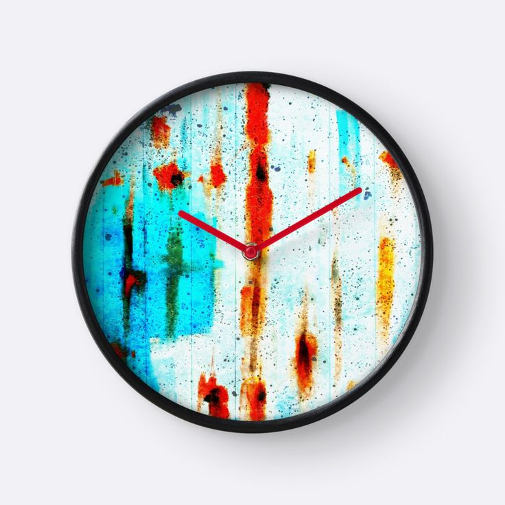 Blue with rust by Silvia Ganora 20% off everything!  Use GOFOR20  #apparel #abstract #colorful #redbubble #discount #wallclocks #clocks #clothing #tops #homedecor