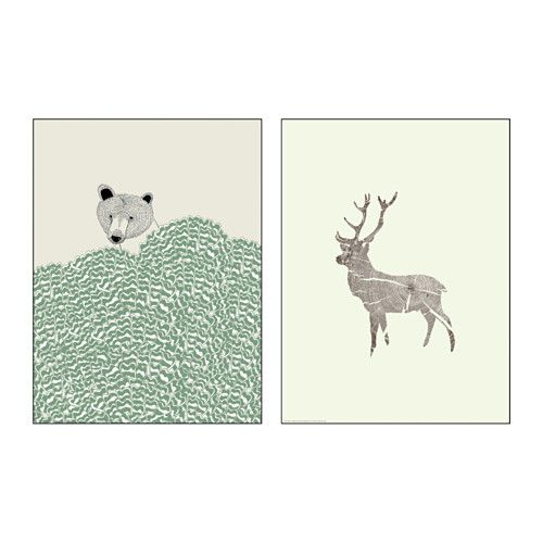 TVILLING Poster, set of 2 IKEA Motif created by Kyle Naylor, Dear Prudence. You can personalize your home with artwork that expresses your style.