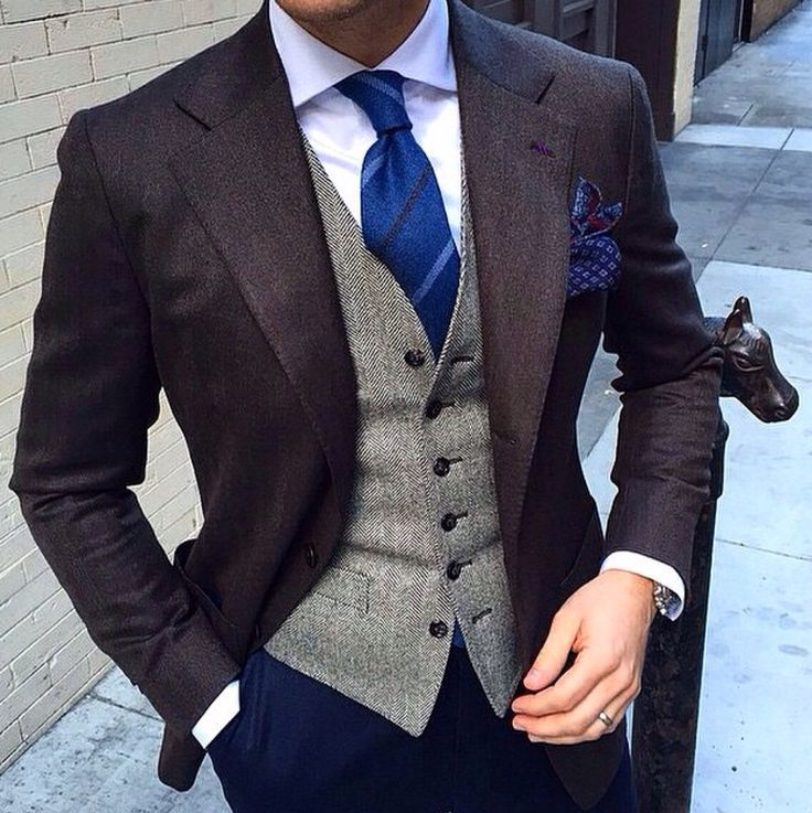 A subtle mix of hues and shades makes for a truly exceptional look. #mensfashion…