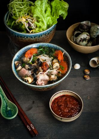 Sea snails and pork noodle soup | Rice kitchen