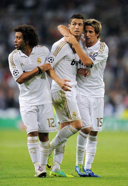 Marcelo Vieira, Cristiano Ronaldo and Fabio Coentrao