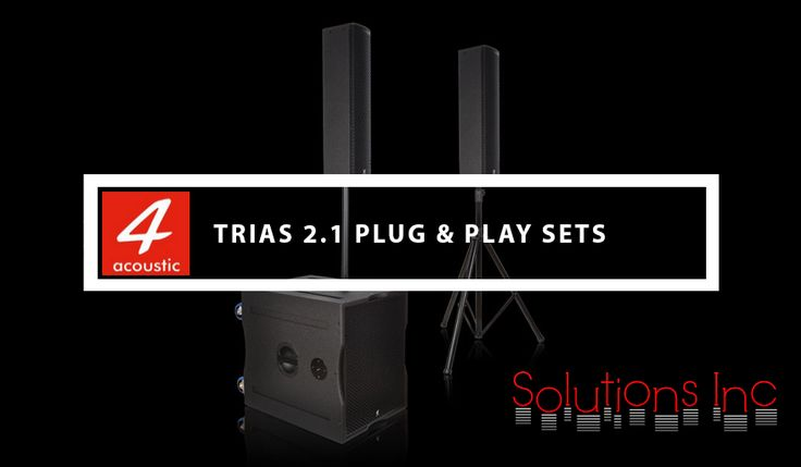 #4AcousticTRIAS are powerful active Plug & Play systems based on our active #subwoofer range PCS-11XBA and different type of satellite #speakers. The delivery contents a M20 distance tube, a speaker tripod and two 10 meter long speaker cables. Transport bags for the sub and the satellite speaker are optional available