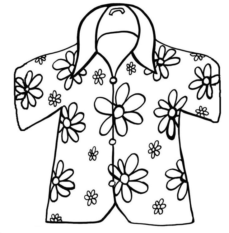 It is a photo of Impertinent Shirt Coloring Pages