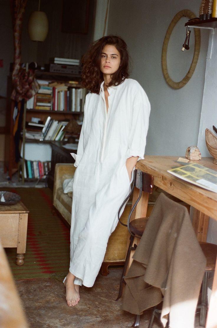 Datura Blog - LEXIE SMITH - White Linen Ren Jumpsuit