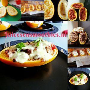 Revamped Pasta: Pompoen Spaghetti | http://www.juicesensmoothies.nl/2014/09/19/revamped-pasta-pompoen-spaghetti/