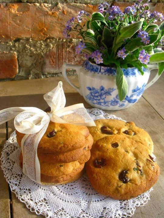 Brusinkovo-mátové cookies