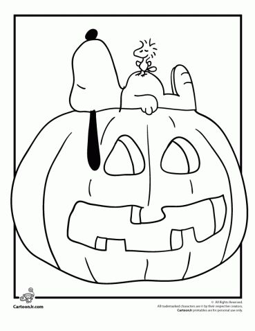 It's the Great Pumpkin Charlie Brown Coloring Pages | Woo ...