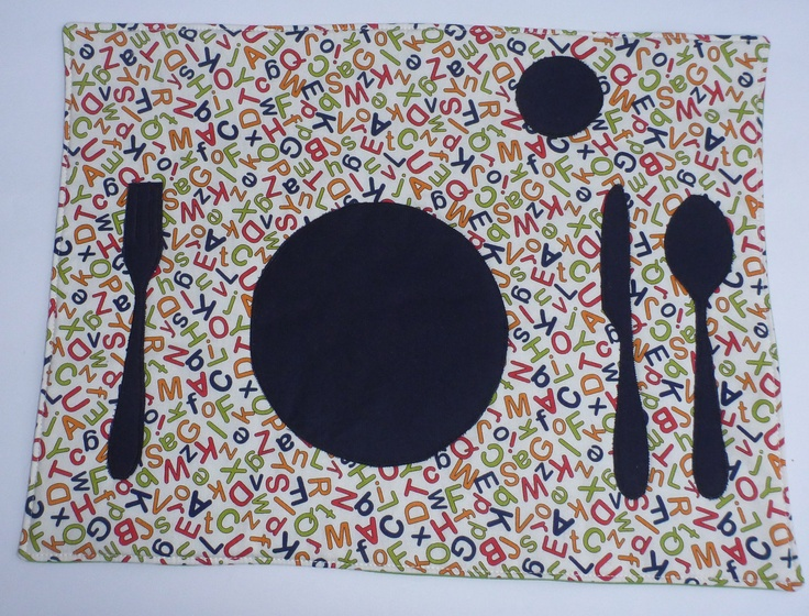 Set the Table Placemat Montessori Fun Educational Alphabet Zone Place Mat by BonTonsGifts on Etsy. $18.00, via Etsy.