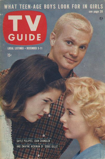 TV Guide - December 5-11, 1959 featuring Dobie Gillis  This shows how old I am. I remember this show. In 1959 I was 11 years old.