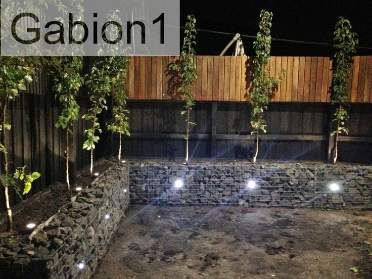 Photo: Peter of Parkville Melbourne   #gabion  wall, using 375mm tall gabions in 3mm welded mesh, www.gabion1.com.au