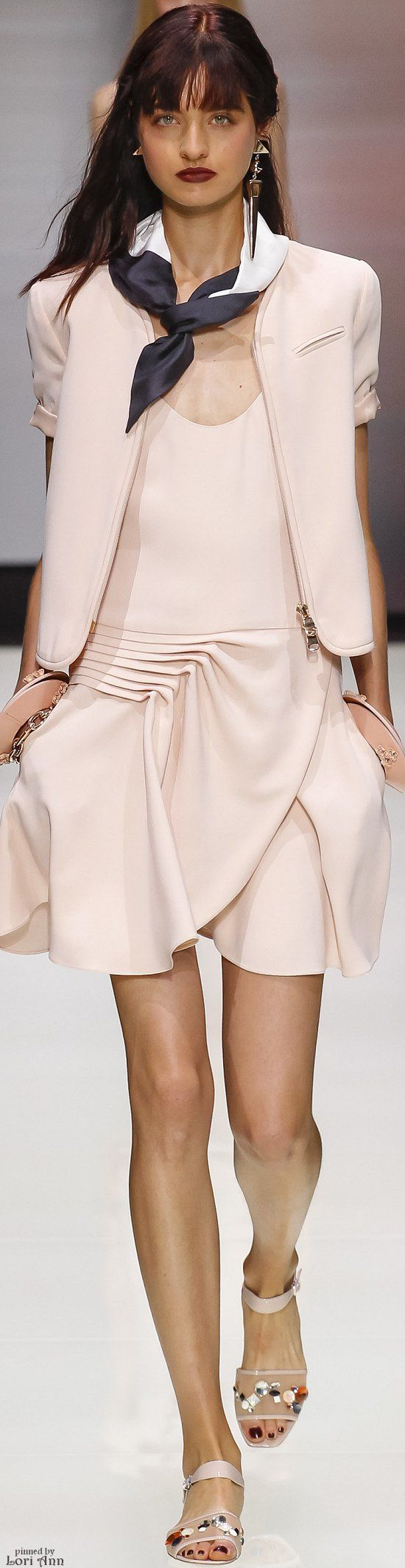 Emporio Armani Spring 2016 RTW women fashion outfit clothing style apparel @roressclothes closet ideas