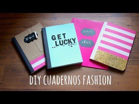 DIY cuadernos bonitos para regreso a clases.