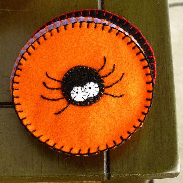 Felt Coasters - Spider by River (Wing-It Vegan), via Flickr