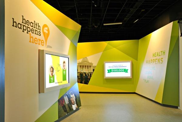 green modern exhibitions kids