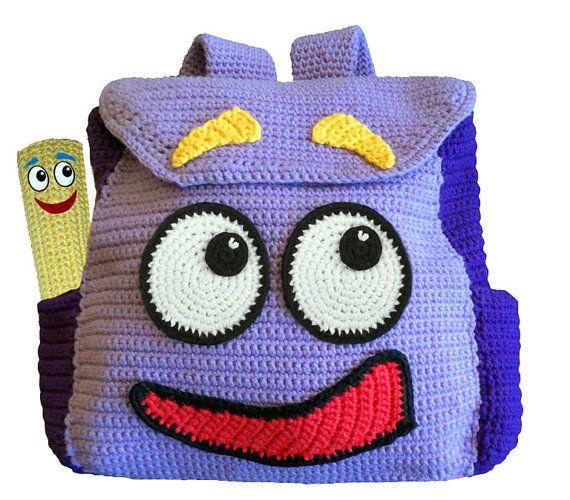 Crochet Pattern - Dora The Explorers Backpack & Map