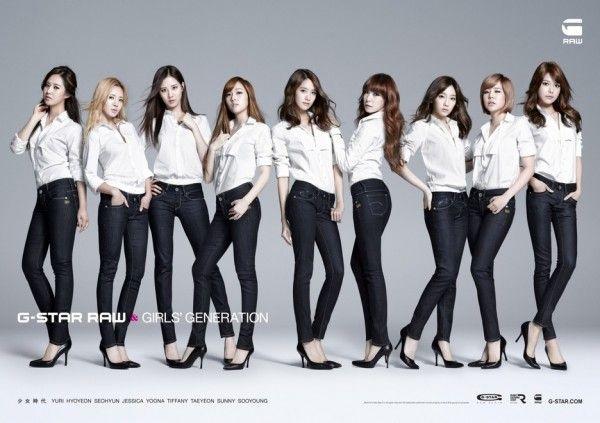 G-STAR RAW Japan unveils photos of their new endorsement models, Girls' Generation