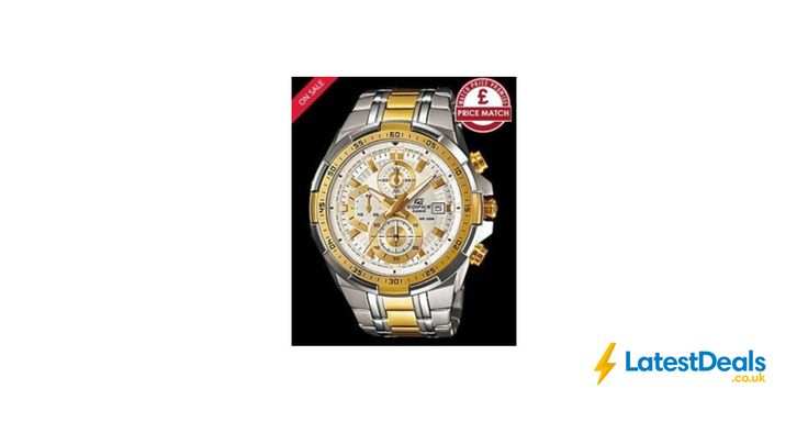 Casio Gent's Two Tone Stainless Steel Bracelet Watch Save £125 Free Delivery, £124.99 at H Samuel