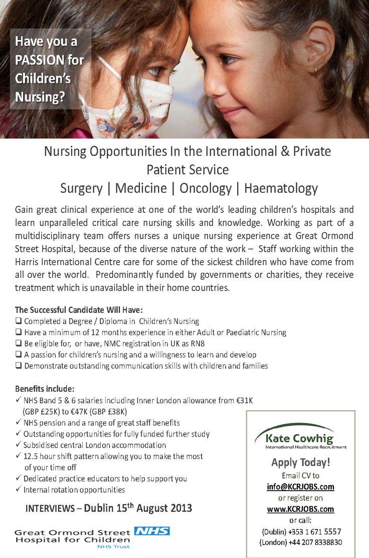 GreatOrmondStreetHospital London have childrens' nursing