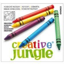 Zsírkréta készlet 12 darabos - Creative Jungle - 159Ft - Zsírkréta - Zsírkréta készlet - Viaszkréta