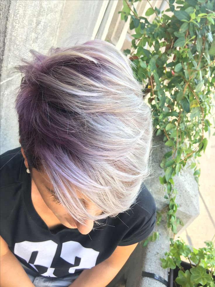 #pastel #violet #orchid #hair-color #shorthair #platinum-blonde #jbeverlyhills #1concept #yourbeautymasters
