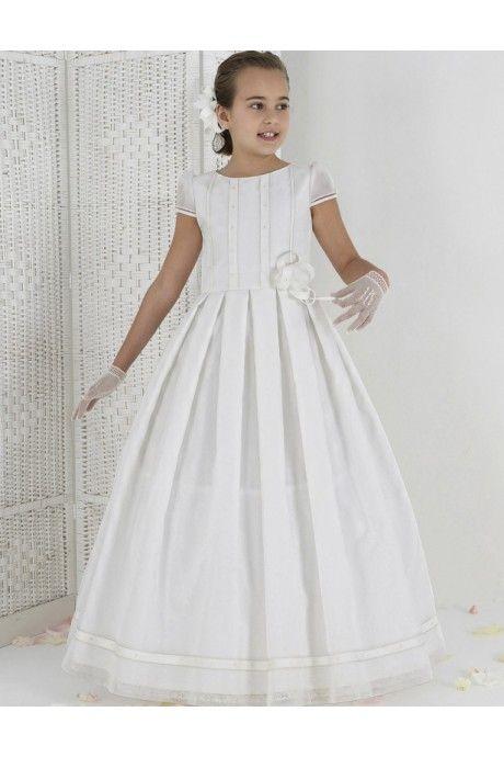 チュール ルーシュ ボールガウン フラワーガールドレス 子供ドレス Fab0010